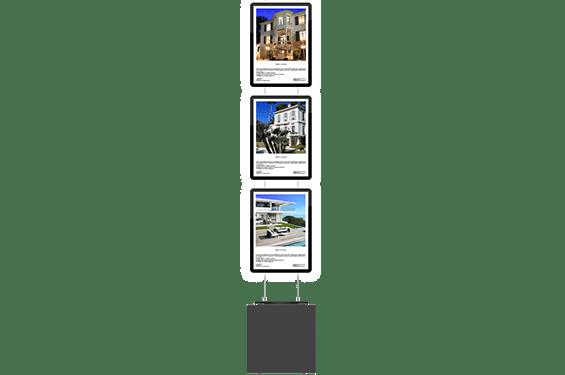 VM box premium 3 skærme forfra